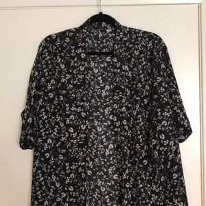Short sleeve floral kimono